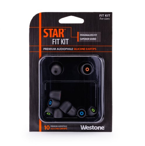 Westone Star Silicone Eartips For Westone Universal Fit Earphones, Five Pairs In Assorted Sizes