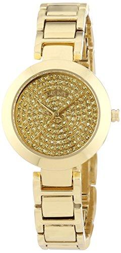 DKNY  NY8892 - Reloj de cuarzo para mujer, con correa de acero inoxidable, color dorado