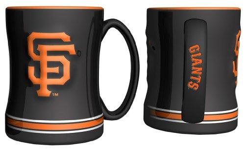 San Francisco Giants Coffee Mug - 15Oz Sculpted, Black--(Package Of 2)