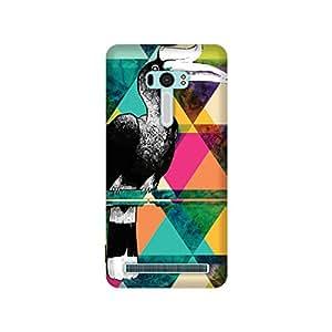 The Racoon Lean printed designer hard back mobile phone case cover for Asus Zenfone Selfie ZD551KL. (The Hornbi)