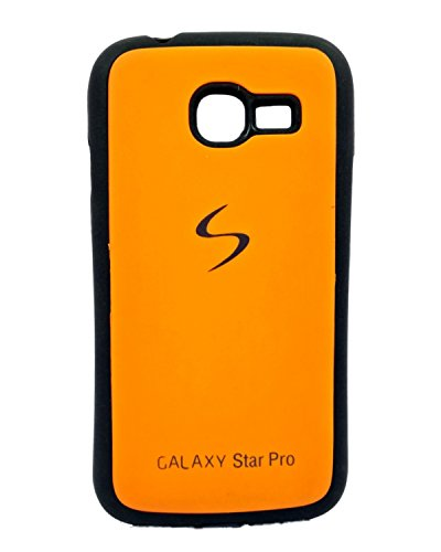 iCandy™ Premium Quality Black Boarder Leather Finish Soft Back Cover For Samsung Galaxy Star Pro S7260 / S7262 - Orange  available at amazon for Rs.119