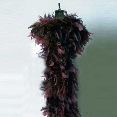 100g Chocolate Brown Feather Chandelle Boa for party