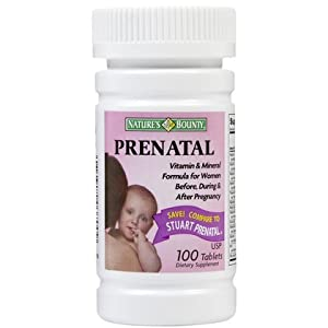 Nature's Bounty Pre-Natal Multivitamin Tabs, 100 ct (Quantity of 3)