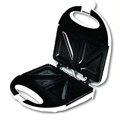 NEW Vivitar Nonstick Easy to Use Sandwich Maker Easy to Clean WHITE (Toaste Ovens compare prices)