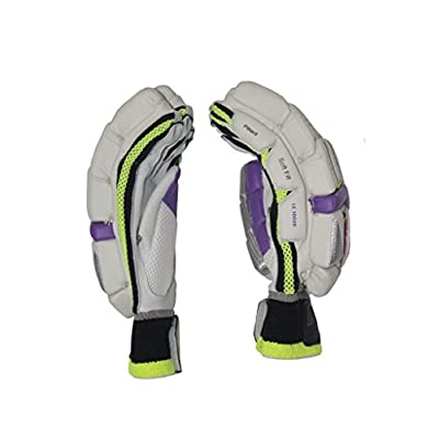 Burn LE-10000 Right Hand Batting Gloves- Mens (White/Pink/Green)