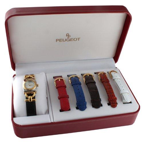 Peugeot Women'S 632Tt Analog Display Japanese Quartz Multi-Color Watch Set