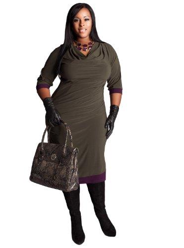 Buy IGIGI by Yuliya Raquel Plus Size Provence Dress in Olive