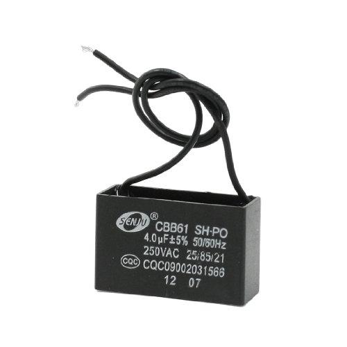 CBB61 4uF AC 250V Rectangle Non Polar Motor Strating Capacitor by Amico