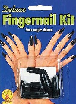 Elvira Deluxe Black Nails Set