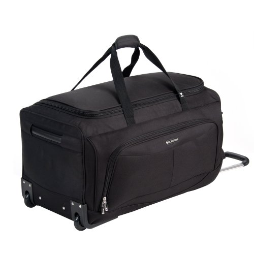 Delsey Luggage Helium Fusion 3.0 Duffel Bag, Black, 28″x14″x14″ best offers