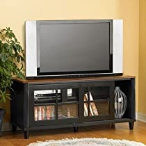 Convenience Concepts French Country TV Stand with Shelf and Sliding Doors for Flat Panel TV's up to 50-Inch or 100-Pound