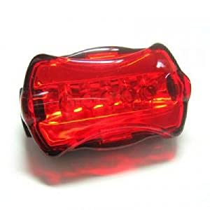 BikeGearz(tm) High Intensity Red 5 LED Bike - Bicycle - Cycling Flashing Rear Safety Tail Light with 6 Modes