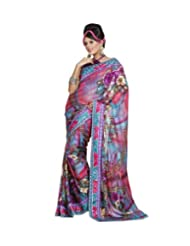 Triveni Designer Fancy Saree With Unstitch Blouse - 11004