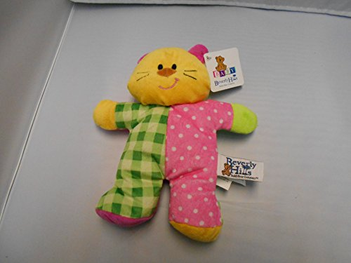 Beverly Hills Plush Beanie Baby Rattle Cat