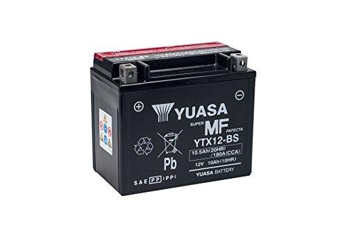 YUASA YTX12-BS Powersports AGM Motorrad Batterie, wartungsfrei (Preis inkl. EUR 7,50 Pfand)