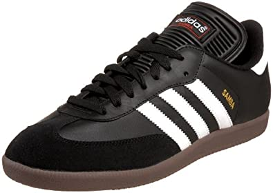 adidas Men's Samba Classic Soccer Shoe,Black/Running White,11 M