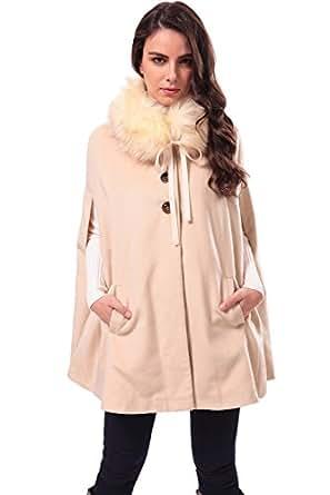 Amazon.com: Zattcas Womens Winter Warm Wool Poncho Coat