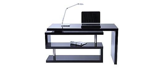 Miliboo - Scrivania design laccata nera MAX