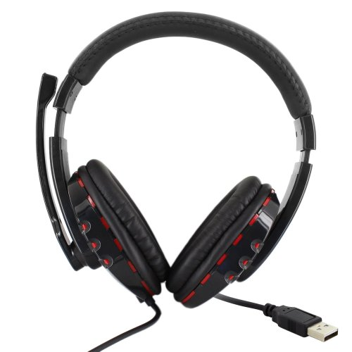 Skque® Usb 2.0 Universal Wired Gaming Headset Headphone For Sony Playstation 3, Black