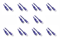 C&E 6-Feet Cat5e Snagless/Molded Boot Ethernet Patch Cable, 10-Pack - Purple (CNE48908)