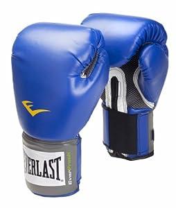 Everlast Velcro Pro Style Boxing Training Gloves - 16oz, Blue