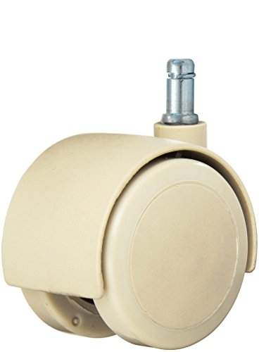 Twin Wheel Caster Solutions TWHN-50U-G20-TN 2″ Diameter Urethane Wheel Hooded Non-Brake Caster, 7/16″ x 7/8″ Grip Ring Stem, 110 lb Capacity Range