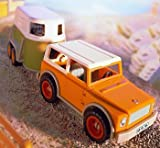 Schleich 42025 SUV 4 x 4 vehicle with driver and 40185 Horse Trailer Set