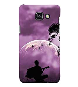 Printvisa Premium Back Cover Vector Guitarist View Design For Samsung Galaxy A7 (2016)::Samsung Galaxy A7 (2016) Duos with dual-SIM card slots