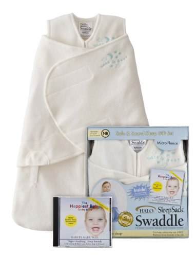 HALO and The Happiest Baby Safe and Sound Sleep Gift Set, Cream, Newborn