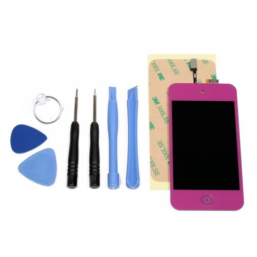 Interfuse® Purple Touch 4Th Gen Lcd Digitizer Glass Screen Assembly + Home Button, Tools & Adhesive