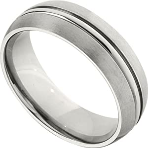 Titanium 7.0mm Domed Band: Size 10.5 - 7mm