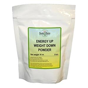 Alternative Health & Herbs Remedies Energy Up Weight Down, Powder, 16-Ounce Bag