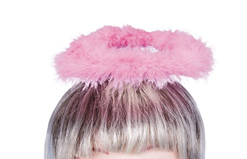 Loftus Halloween Angel Costume Feather Halo Headband Pink One Size