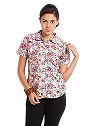 Miraaya Women's Shirt (M2323A_5462_Beige_XXx-Large)