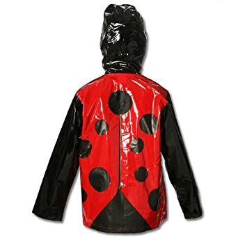 ladybug rainjacket back