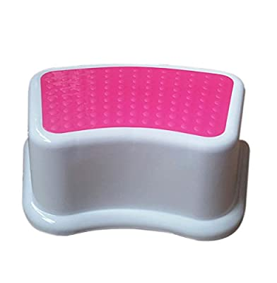 Kids Best Friend Girls Pink Stool, Take It Along in Bedroom, Kitchen, Bathroom and Living Room.