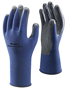 Showa Best Glove Large Blue And Gray Atlas Ventulus 380 Fully Dipped Nitrile ...