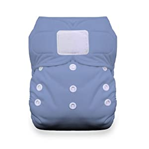Thirsties Duo All in One Cloth Diaper with Hook and Loop, Storm Cloud, Size 2