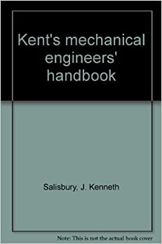 KENT'S MECHANICAL ENGINEERS HANDBOOK~2 VOL.SET~12th EDITION~SHIPS FREE