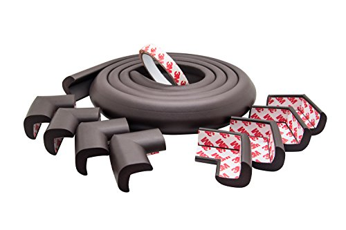 Premium 13ft Table Edge Cushion & 8 Corners with PreApplied Tape, NonToxic Brown