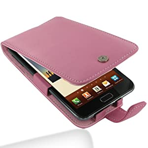 Pdair Pink Leather Flip Protective Case Cover for Samsung Galaxy Note GT-N7000 + belt clip