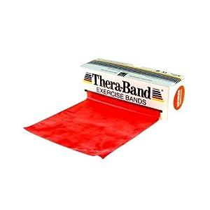 Thera-Band Übungsband 45,5 m , mittel/rot