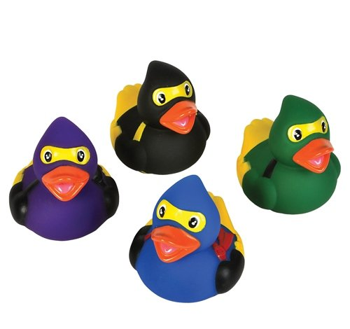 "Rhode Island Novelty 2"" Ninja Rubber Duck (12 Piece)"