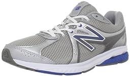 New Balance Men\'s MW665 Fitness Walking Shoe,Silver/Blue,12 D US