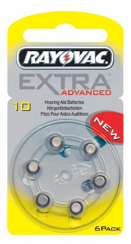 Rayovac piles pour aides auditives Taille 10 - 5 Packs de 6 piles