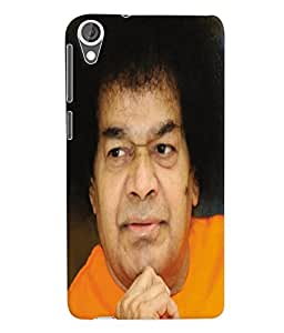 Fuson 3D Printed Lord Sathya Sai Baba Designer Back Case Cover for HTC Desire 820 - D689