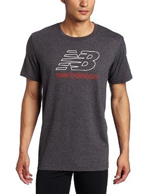 (新品)New Balance Men's Short Sleeve Tee纽巴伦男士运动短袖蓝色$13.00