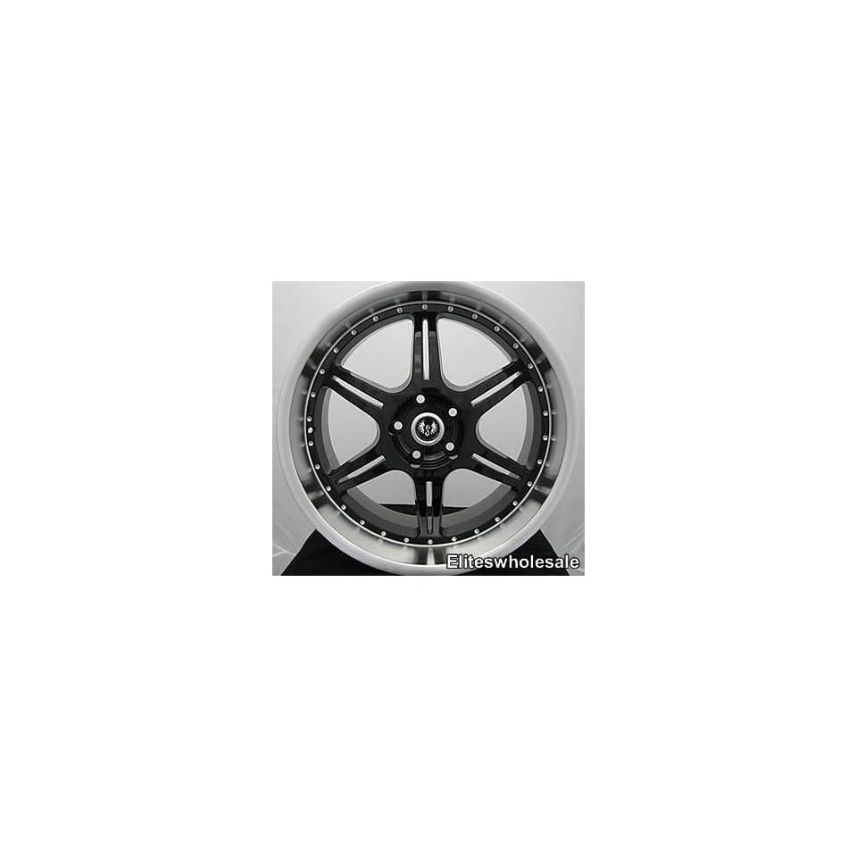 18x9.5 Black Stern ST2 5x112 crossfine rim wheel audi
