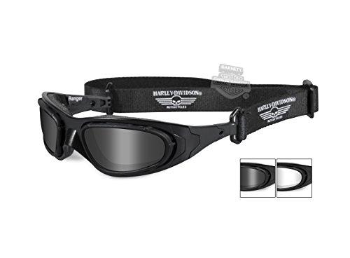 Harley-Davidson Ranger Clear & Smoke Gray 2 Pack Lens Sunglasses Goggle HDRAN01 - Harley-Davidson