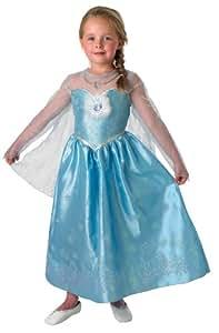 Disney Frozen - Disfraz Deluxe de Elsa para niña, talla S